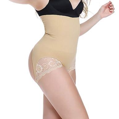bb0a3fbdc High Waist Butt Lifter Thong Shapewear Tummy Control Knickers for Women  Sexy Lace Underwear Body Shaper  Amazon.co.uk  Clothing