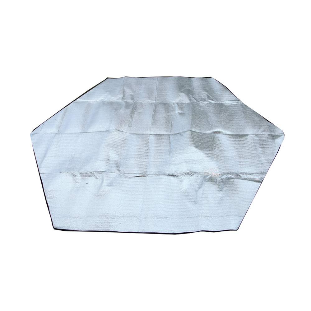 Hexágono Picnic Camping Disponible Carpa Interior Aluminio Película Moisture Pad Carpa Mat Picnic Mat Al Aire Libre Humedad Pad Camping