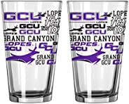 NCAA Spirit Pint Glass, 16-Ounce, 2-Pack