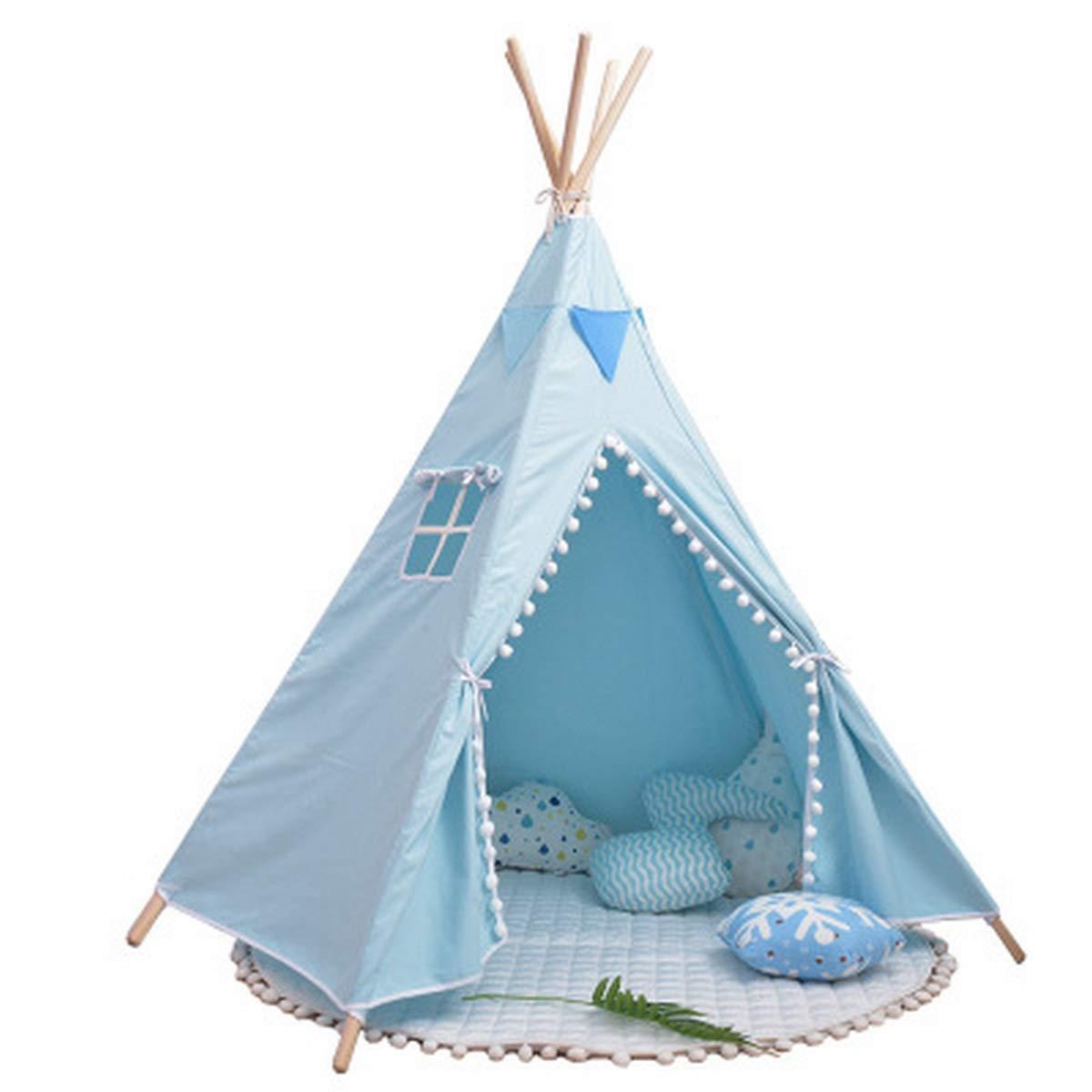 Plgga Tipi Zelt Für Kinderkabine Spielhaus Indischen Zelt Stil Weicher Baumwolle Leinwand Material Geeignet Für Außenhof Home Party (140X110x110cm Für 1-2 Personen)