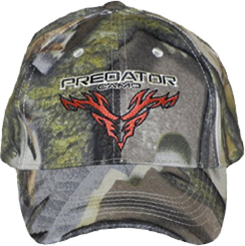 3d Logo Hat (Predator Camo Men's Regular Brim Logo Hat, 3D Deception, One Size )