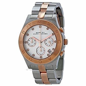 Marc von Marc Jacobs Chronograph Silber Zifferblatt Zweifarbig Damen Watch MBM3178