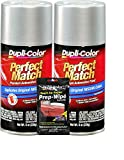 Dupli-Color Alabaster Silver (M) Exact-Match Automotive Paint - 8 oz, Bundles Prep Wipe (3 Items)