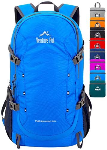 Venture Pal 40L Lightweight Packable Waterproof Travel Hiking Backpack Daypack