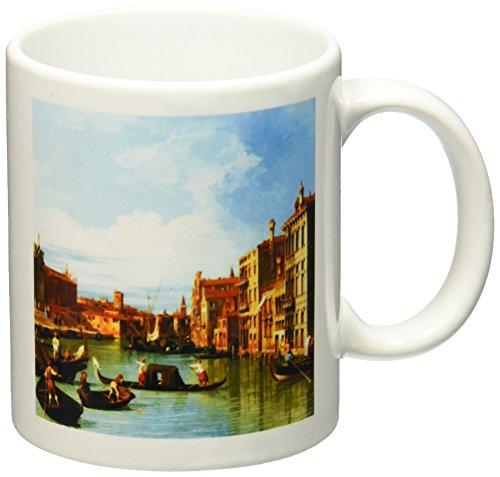 Italy Photograph - 3dRose mug_162555_1 The Grand Canal and The Church of The Salute by Canaletto 1730 Venice Italy Italian Gondola Boats Ceramic Mug, 11-Ounce, White