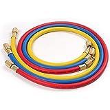"Atoplee 3pcs (2500~500)PSI 1/4 ""SAE-1/4"" SAE AC Charging Hose Set For HVAC Air Condition Refrigerant R12 R22 R502"