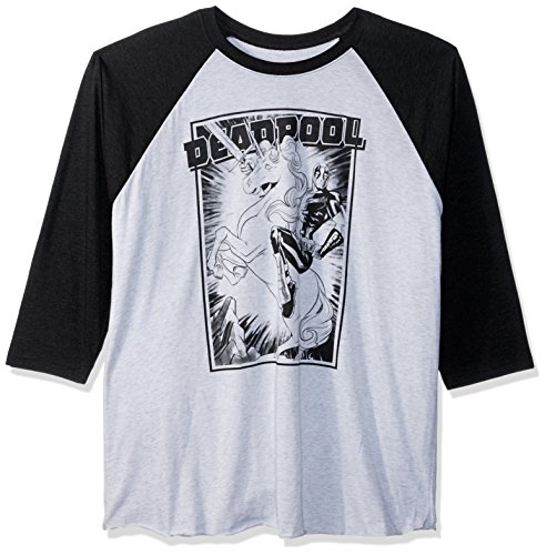 Marvel Men's Official Deadpool Fantasy Fashion Raglan,