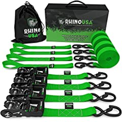"""⭐⭐⭐⭐⭐ """"Rhino went above and beyond my expectations... I use my straps for moving with flat tow trailer, no issues at all! Hook is a major upgrade from my lashing inch strapa I use before. 5 STARS TO THESE GUYS!"""" - Michael Pack"""