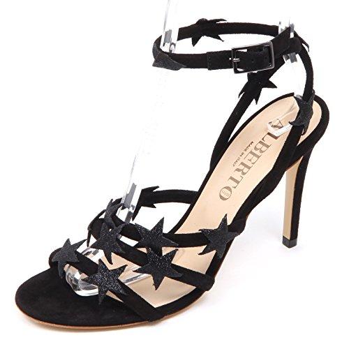 ALBERTO GOZZI D5712 sandalo donna nero scarpe star shoe woman Nero