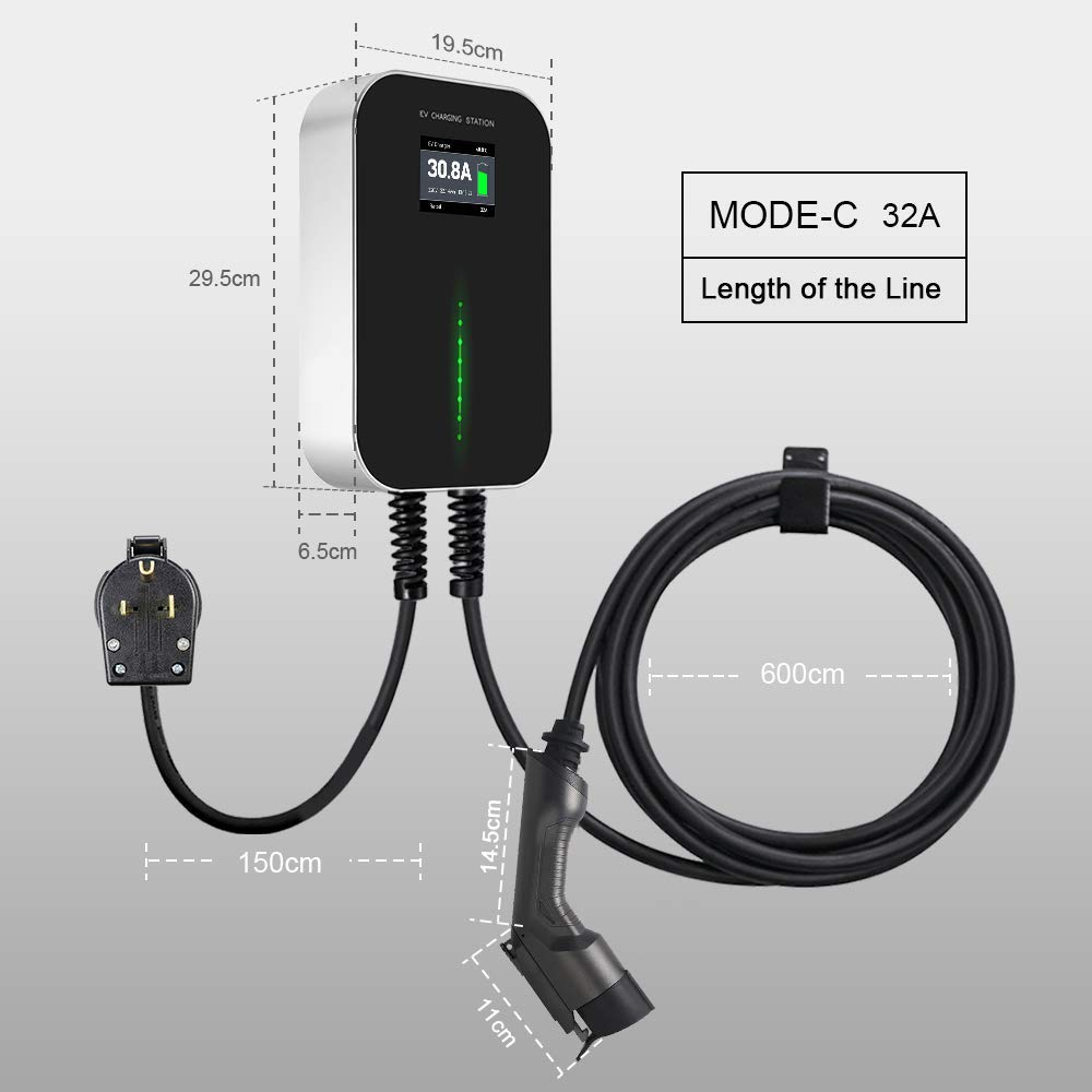 Morec EV Charging Station 32A Level2, ev Charger 220v-240v, Electric Vehicle Charger Station NEMA 6-50, 24Feet Cable (7.5M), SAE J1772 Compatible with All Electric Vehicles by Morec (Image #7)