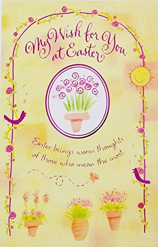 My Wish for You at Easter Brings Warm Thoughts of Those Who Mean The Most - You're A Very Special Person and I think The World of You! Romantic Greeting Card (Husband Wife Boyfriend Girlfriend)