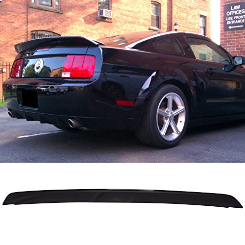 Pre-painted Trunk Spoiler Fits 2005-2009 Ford Mustang | OE Style ABS Painted Black #UA Trunk Boot Lip Spoiler Wing Deck Lid Other Color Available By IKON MOTORSPORTS | 2006 2007 2008
