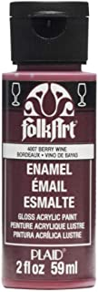 product image for FolkArt Enamel Glass & Ceramic Paint in Assorted Colors (2 oz), 4007, Berry Wine