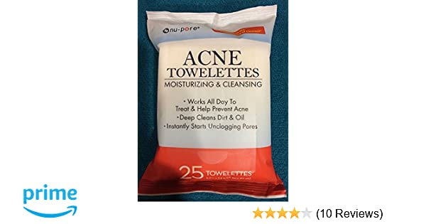 Amazon.com: NU-PORE Acne Moisturizing and Cleansing Towelettes 25 Count: Beauty