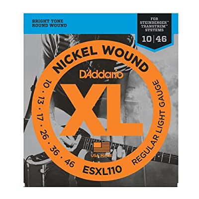 D'Addario ESXL110 Nickel Wound Electric Guitar Strings, Regular Light, Double Ball End, 10-46 from D'Addario &Co. Inc