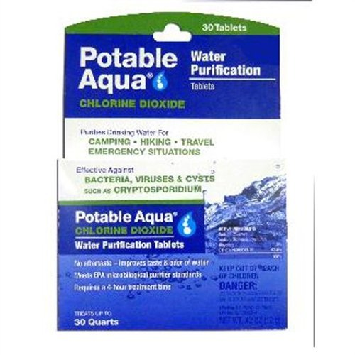 Potable Aqua Chlorine Dioxide Tablets Box of 30 by Atwater Carey