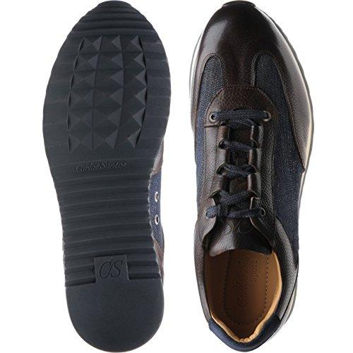 Herring Herring Pembury - Zapatos de cordones para hombre multicolor Brown Calf and Denim
