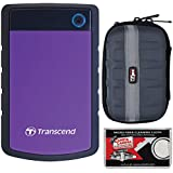 Transcend 2TB USB 3.1 StoreJet 25H3 Portable Hard Drive with Case + Cleaning Cloth