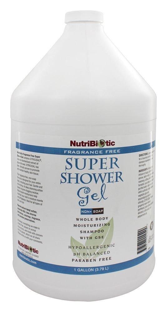Nutribiotic Super Shower Gel, Fragrance Free, 128 Fluid Ounce