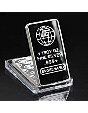 1 Oz Fine 999,9 Silver Bar Quality Silver Plated Metal Bars Metal Crafts Quality Festival Art Ornament for Birthday Gifts