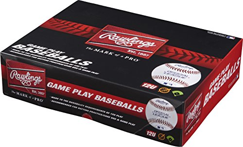 Rawlings 12U Youth Baseballs, (Box of 12), R12U-TPK12