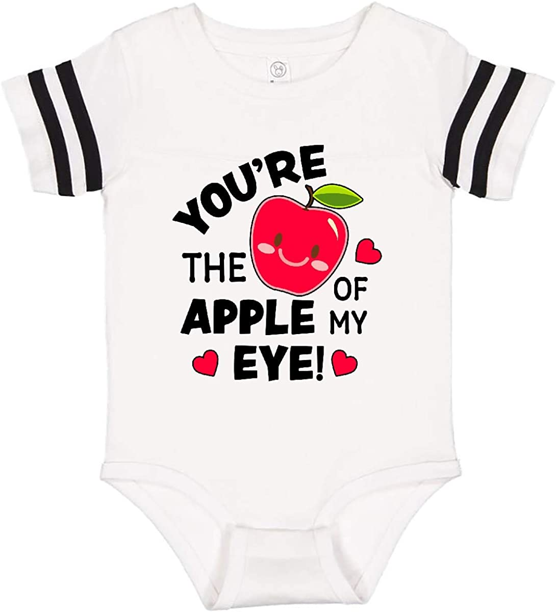 inktastic Youre The Apple of My Eye Valentine Pun with Cute Apple Infant Creeper
