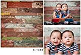 Laeacco 3x5ft Thin Vinyl Photography Backdrops Retro Wooden Wall Baby Newborn Birthday Kids Photo Background Studio Props 1x1.5meter