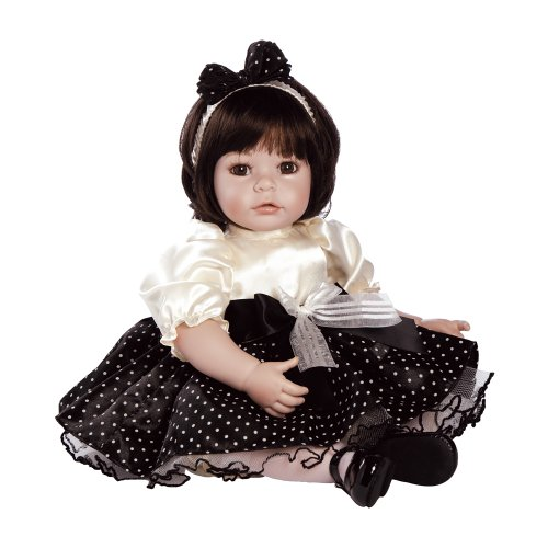 "Adora Baby Doll 20/"" Classic Snow White Dark Brown Hair//Brown Eyes"