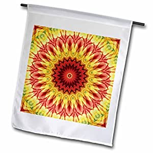Houk Digital Abstraction Art - Fancy Kaleidoscopes - Colorful Baloon Magic Star Mandala - 12 x 18 inch Garden Flag (fl_41953_1)