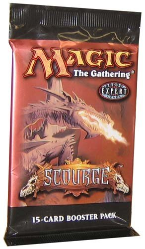 1 (One) Pack of Magic the Gathering MTG Scourge Booster Pack (OUT OF PRINT) Wizards of the Coast