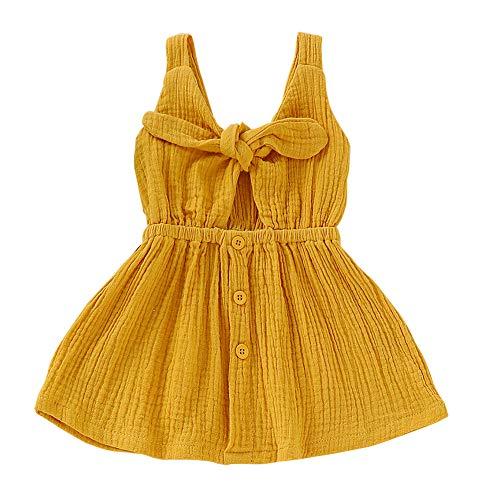 SANMIO Toddler Baby Girls Dress for Summer,Sleeveless Princess Cute Bowknot Dress -