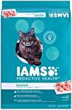 Iams PROACTIVE HEALTH Adult Indoor Weight & Hairball Care Dry Cat Food Chicken, Turkey Garden Greens, 16 lb. Bag