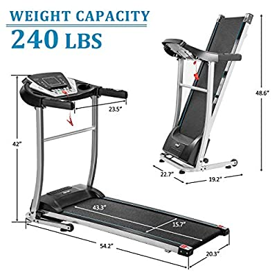 Merax Electric Folding Treadmill Motorized Running and Jogging Fitness Machine for Home Gym with 12 Preset Programs