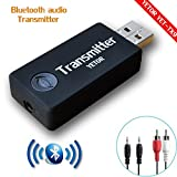 YETOR,Bluetooth Transmitter, 3.5mm Portable Stereo Audio Wireless Bluetooth Transmitter for TV, MP3/MP4,USB Power Supply,2 Devices Pair Simultaneously(TX9)