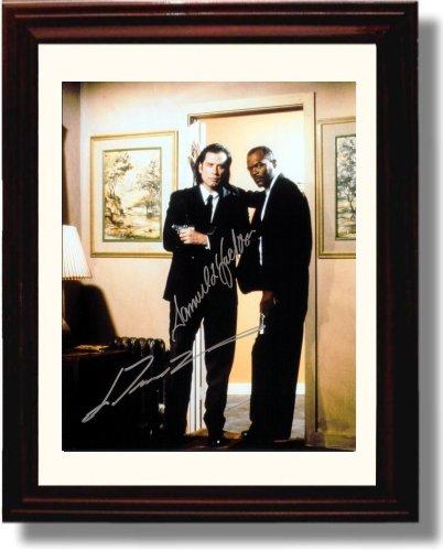 Framed Samuel L Jackson And John Travolta Autograph Replica Print   Pulp Fiction