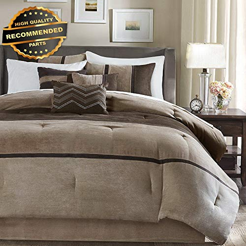 Comforter Palisades Set (Gatton Premium New Palisades Queen Size Bed Comforter Set Bed in A Bag - Brown, Taupe, | Style Collection Comforter-311012750)