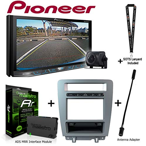 Pioneer AVH-4201NEX 7in DVD Receiver w/Backup Camera iDatalink KIT-MUS1 Factory Integration Adapter for Select Ford Mustang, ADS-MRR Interface Module and a SOTS Lanyard (Renewed) ()