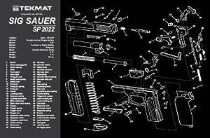 Amazon.com : TekMat Handgun Cleaning Mat with Sig Sauer SP2022 Imprint
