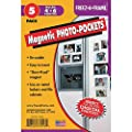 """Clear Magnetic Photo Frames For Refrigerator 4"""" x 6"""" (Pack of 5), Freez-A-Frame"""