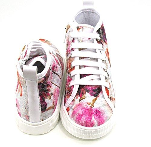 Naturino pe17 sneaker tess.fiori laminato multicolor art. 4444