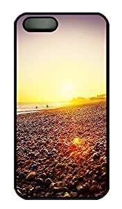 SUN VIGOR 5s Case Brighton Beach Sunset Durable and Comfortable iPhone 5s Cases Personalized Hard Black Cases