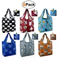 Animal reusbale shopping bags foldable grocery tote bags