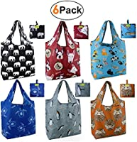 Animal reusbale shopping bags foldable grocery tote bags …