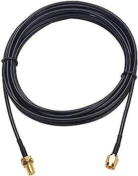 Cable alargador SMA Macho a SMA Hembra coaxial Adaptador WiFi ...