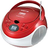 NAXNPB252RD - NAXA NPB252RD Portable CD MP3 Player with AM FM Stereo (Red)
