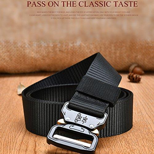 Cinturino rapido regolabile regolabile in fibbia nera con con militare Vbiger cinturino nylon nero 8ngpq8rwxC