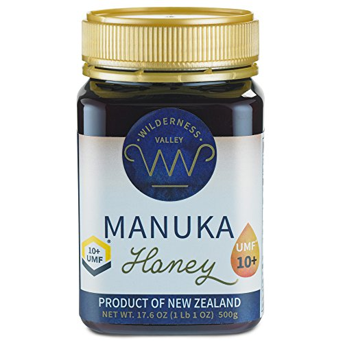 New Zealand Manuka Honey By Wilderness Valley (UMF 10+) 17.6 oz Jar, Sustainably Produced on High Country Farm, Pure & Natural