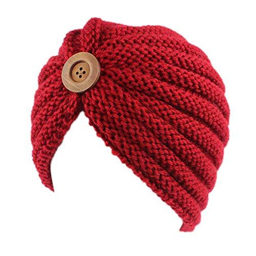 (URIBAKE Women's Retro Winter Wool Knitting Hat Turban Brim Ladies' Hat Cap Pile Cap)
