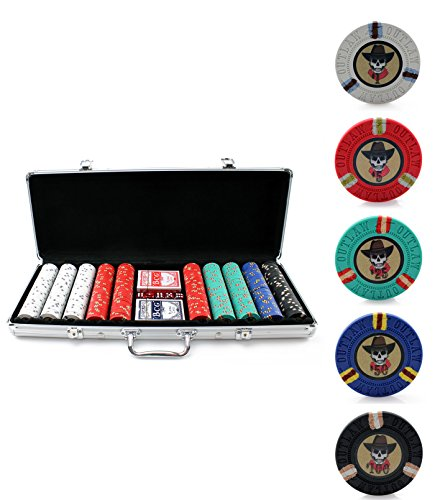 Piece Poker 500 Game (13g Outlaw Clay Poker Chips Set - 500 Piece Set)