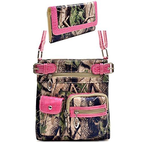Pink Camouflage Messenger Bag - 6